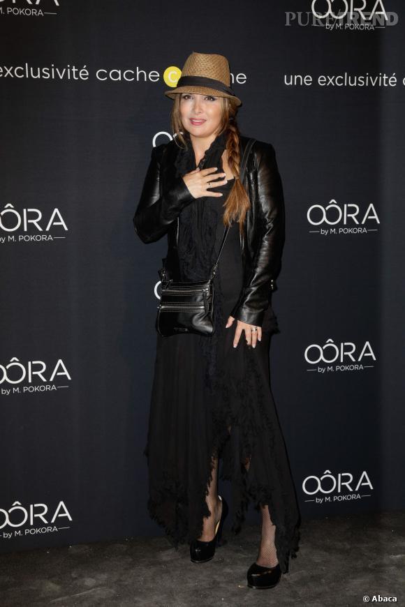 Hélène Segara au lancement de la collection Oôra de Matt Pokora à Paris.