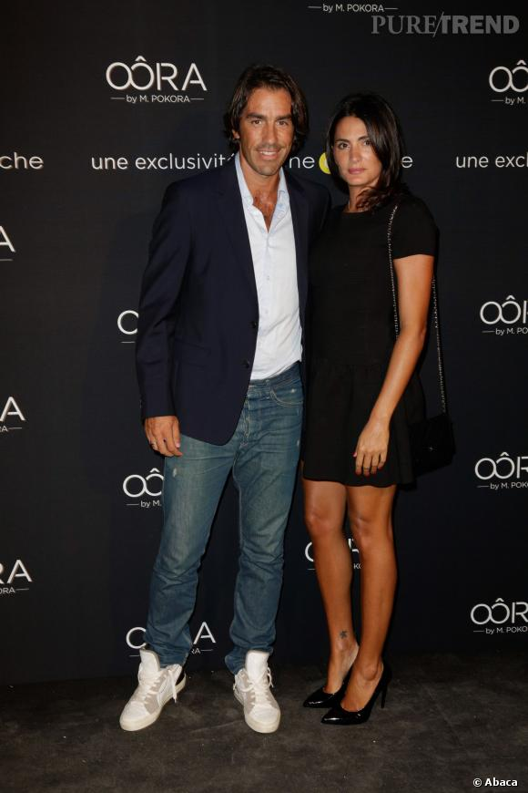 Robert Pieres et sa femme au lancement de la collection Oôra de Matt Pokora à Paris.