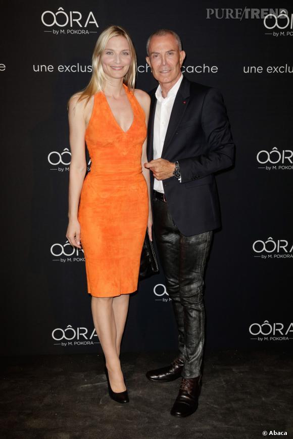 Sarah Marshall et Jean-Claude Jitrois au lancement de la collection Oôra de Matt Pokora à Paris.