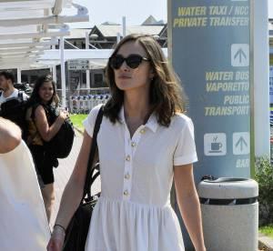 Keira Knightley, british chic pour son arrivee a Venise... a shopper !