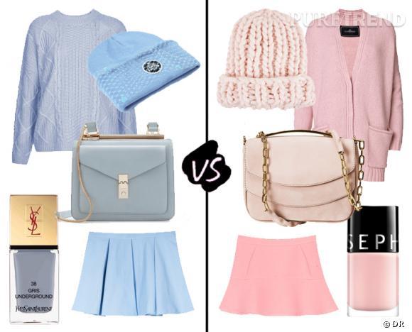 Rose vs bleu, la tendance pastel d'hiver