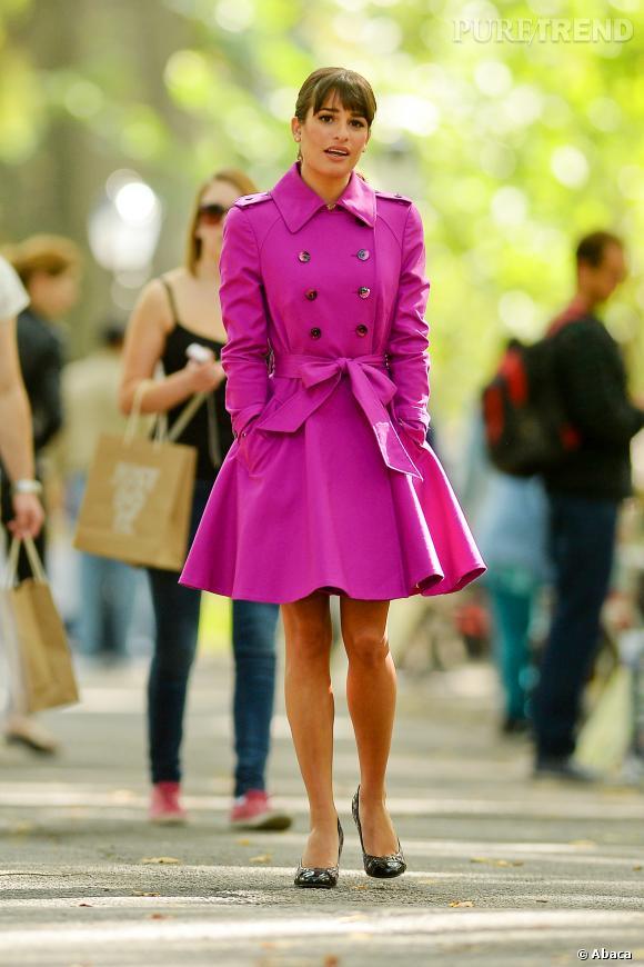 """Lea Michele, mode pour son retour sur les plateaux de """"Glee""""."""