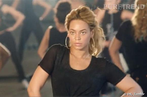 Beyoncé répète ses chorégraphies.
