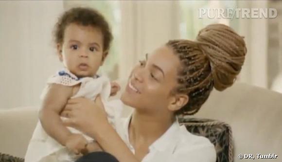 Beyoncé au naturel avec sa fille.