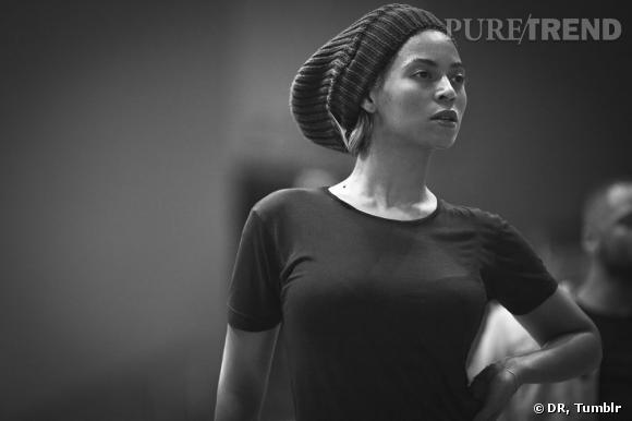 Beyoncé, en pleine répétitions.
