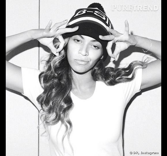 Beyoncé, belle en noir et blanc.