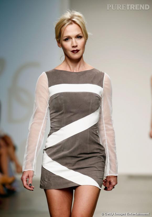 Jennie Garth défile à la Fashion Week de New York.