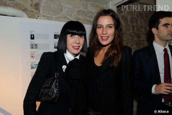 Chantal Thomass et Zoe Félix à la soirée Little Black Bottle by Lancome.