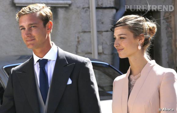 Pierre Casiraghi et Beatrice Borromeo au mariage du Prince Felix : un couple lumineux et élégant.