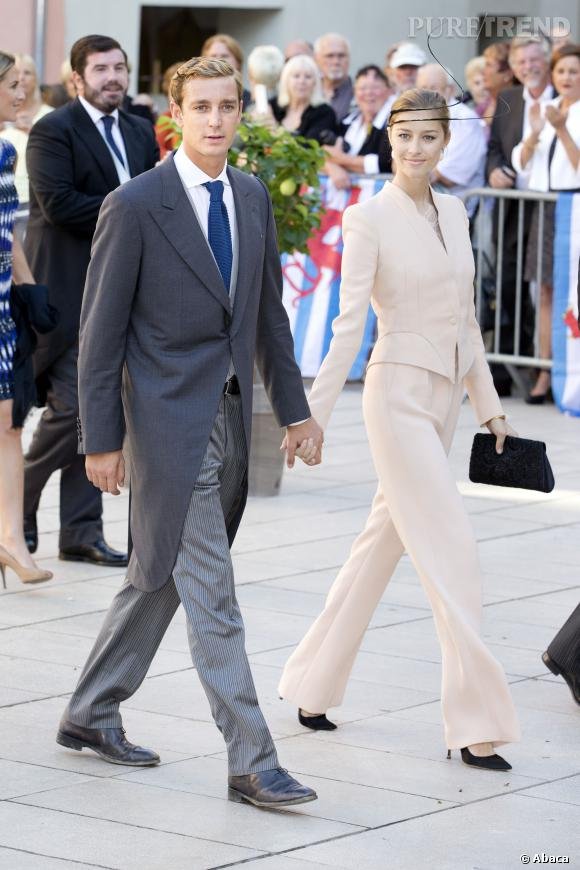 Pierre Casiraghi et Beatrice Borromeo au mariage du Prince Felix : un duo de charme.