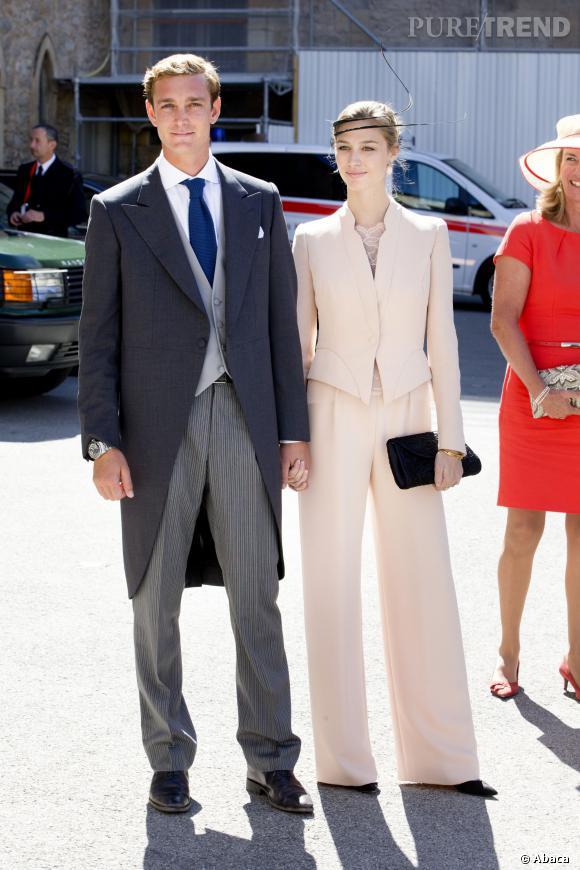 Pierre Casiraghi et Beatrice Borromeo au mariage du Prince Felix le week-end dernier.