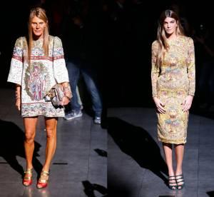Anna Dello Russo vs Bianca Brandolini d'Adda : la robe Dolce & Gabbana Icone