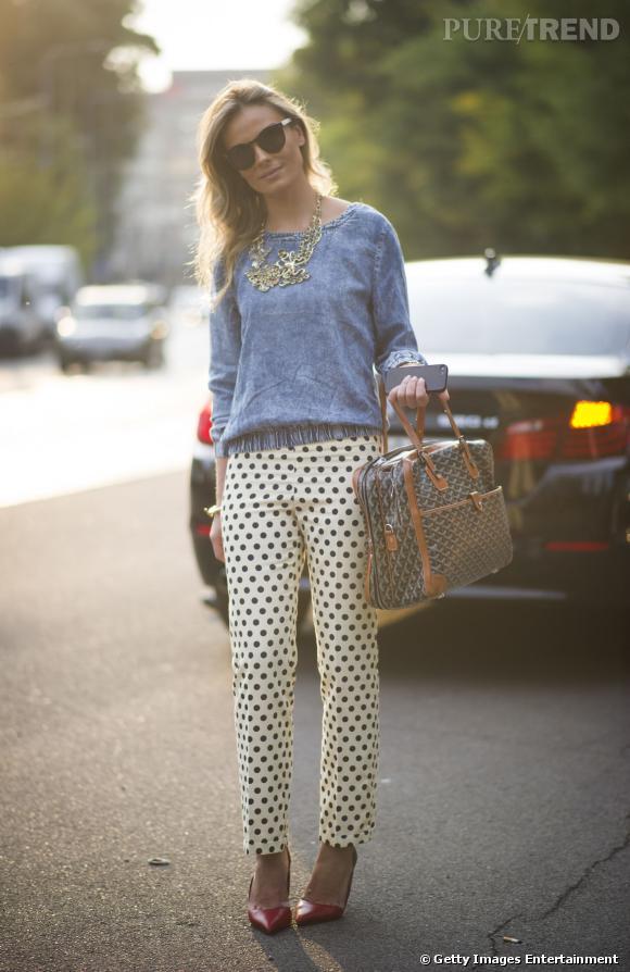 Street Style Fashion Week De Milan Quand La Simplicit Rejoint L 39 L Gance
