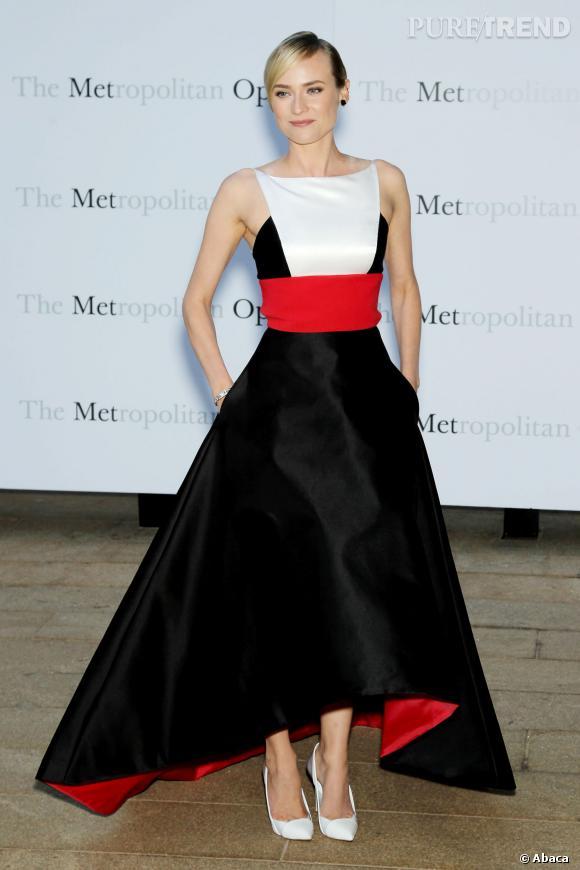 Diane Kruger au Metropolitan Opera porte du Prabal Gurung.