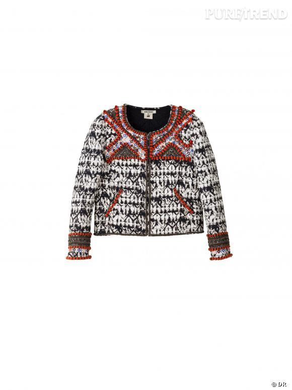 Isabel Marant x H&M : veste brodée, 299 €