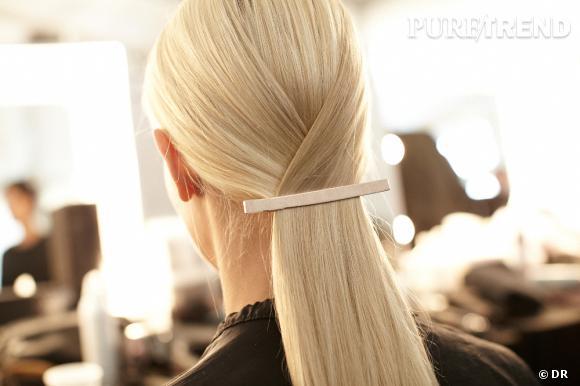 Mode d'emploi pour une ponytail origamique.