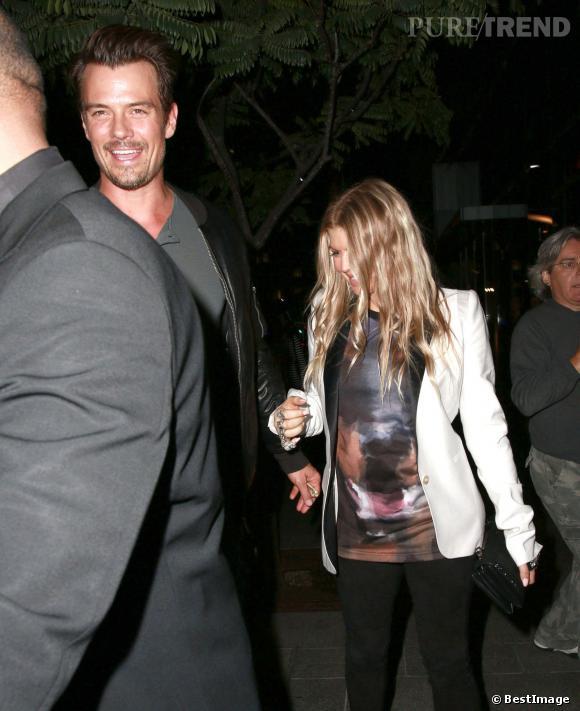 Fergie et Josh Duhamel, restaurant en amoureux.