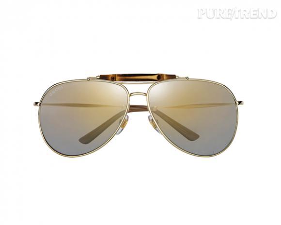 Le must have de Jennifer   lunettes de soleil Bamboo, Gucci, Gold Edition, 2f1749abc438
