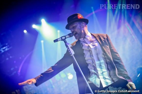 Justin Timberlake, show spectaculaire au iTunes Festival le 29 septembre 2013 à Londres.