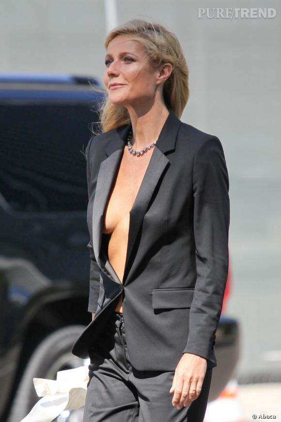 Gwyneth Paltrow sur le tournage de la nouvelle campagne Hugo Boss.
