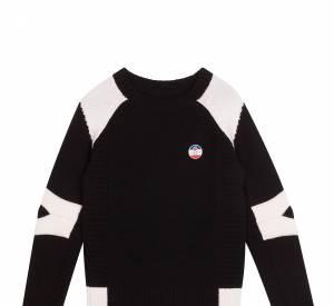 Sandro x Fusalp, collextion ski : sweat écusson, 195 €