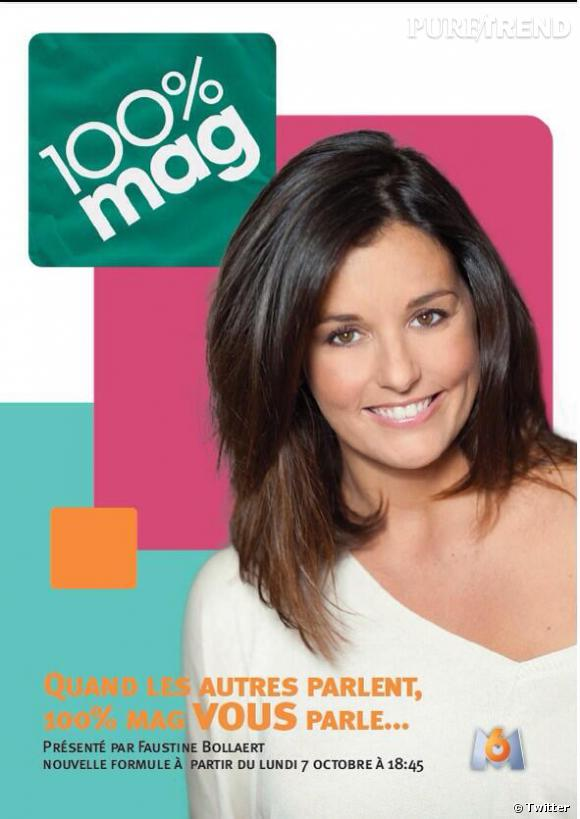 Faustine Bollaert de retour sur M6 dans 100 % Mag ce soir.
