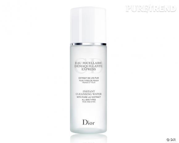 Nos must have pour bien nettoyer et démaquiller sa peau : eau micellaire démaquillage express, Dior, 29,90 €