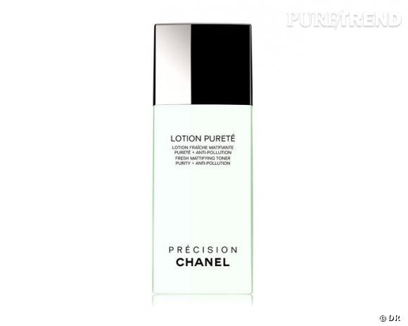 Nos must have pour bien nettoyer et démaquiller sa peau : Lotion Pureté, Lotion Fraîche Matifiante Pureté + Anti-Pollution, Chanel, 37,50 €