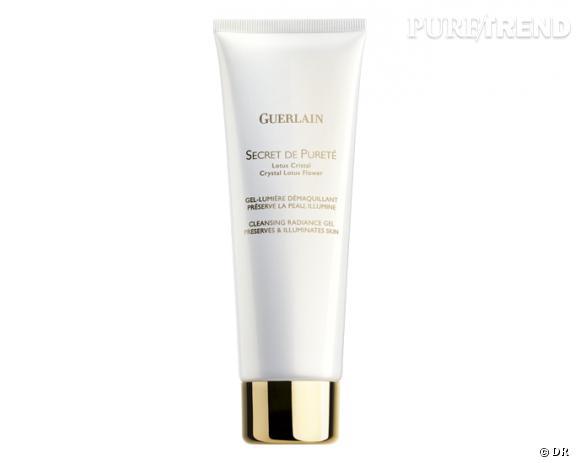 Nos must have pour bien nettoyer et démaquiller sa peau : Secret de Pureté, gel lumière démaquillant, Guerlain, 41 €