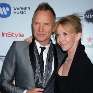 Sting et sa femme Trudie Styler au gala de Pré-Grammy, en février 2013.