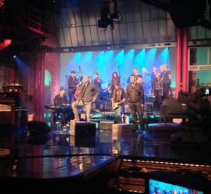 """Sting fait actuellement la promotion de son album """"The Last Ship"""", comme ici au """"Late Show with David Letterman""""."""