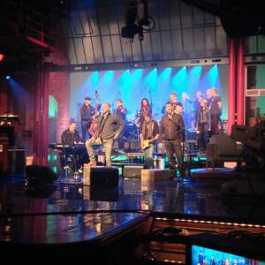 "Sting fait actuellement la promotion de son album ""The Last Ship"", comme ici au ""Late Show with David Letterman""."