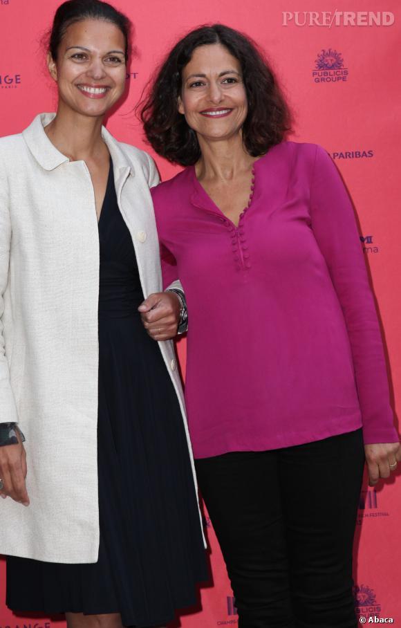 Gisèle Tsobanian, la lauréate 2013 du Prix Clarins de la Femme Dynamisante, ici en compagnie d'Isabelle Giordano.