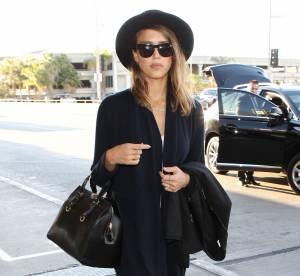 Chapeau noir : l'it-accessoire de Jessica Alba a copier !
