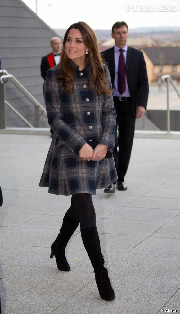 Kate Middleton, une grande fan de l'imprimé tartan !