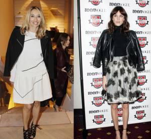 Alexandra Golovanoff vs Alexa Chung : la veste en cuir sur les epaules