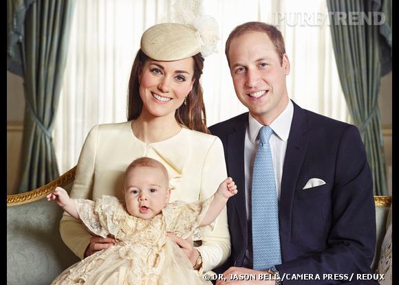 Kate Middleton avec son fils et le Prince William.