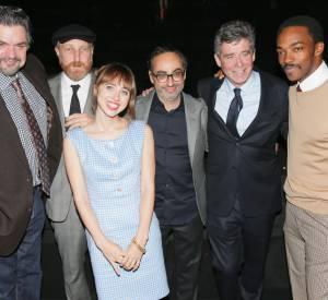 L'acteur Oliver Platt et les auteurs qui ont lu un extrait des nouvelles des lauréats : Jonathan Ames, Zoe Swicord Kazan, Gary Shteyngart, Jay McInerney Jr. et Anthony D.Mackie