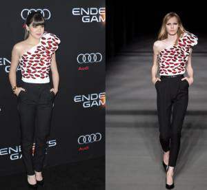 Hailee Steinfeld vs le podium : l'ensemble Lips Saint Laurent