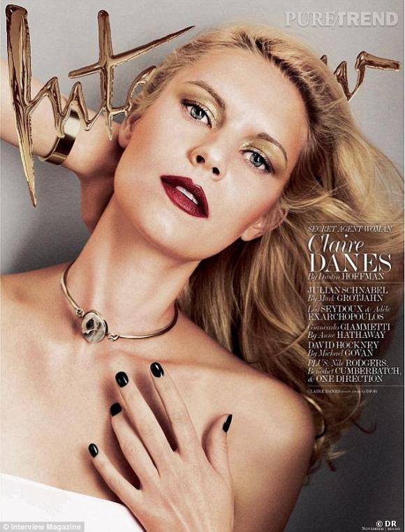 Claire Danes, sexy pour Interview.