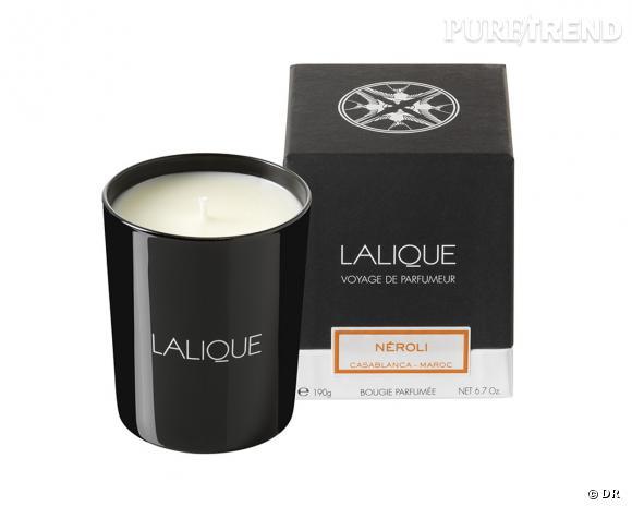 Bougie parfumée Neroli, Lalique, 65 €