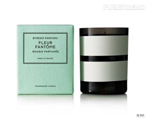 Bougie parfumée Fleur Fantôme, Byredo, édition collector, 65 €
