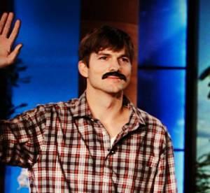 Ashton Kutcher : triste d'être imberbe, il adopte la fausse moustache