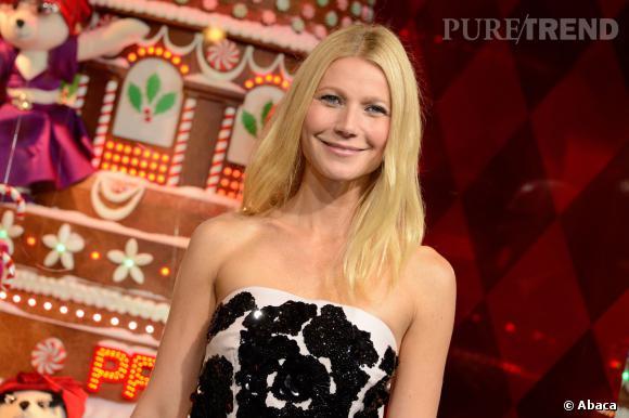 "Gwyneth Paltrow a inauguré les vitrines du Noël 2013 ""Joyeuse Obsession by Prada""."