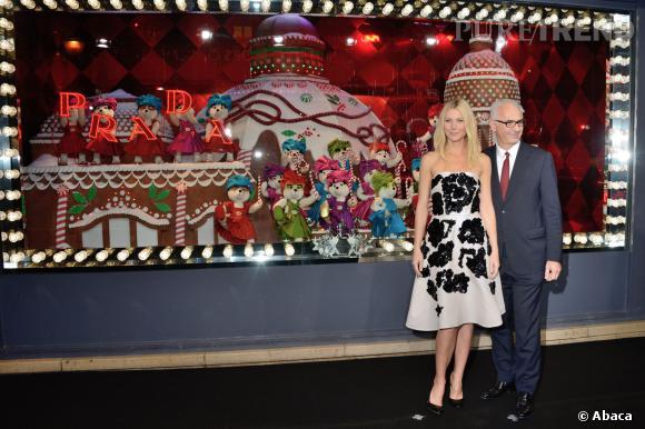 "Créées avec Prada, les vitrines du Noël 2013 du Printemps s'intitulent ""Joyeuse Obsession by Prada""."