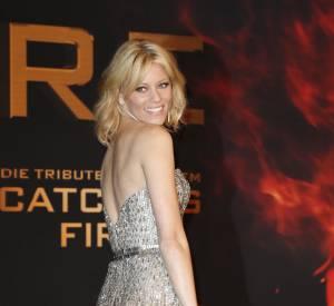 """Elizabeth Banks pour la présentation du film """"Hunger Games : L'Embrasement"""" à Berlin, mardi 12 novembre."""
