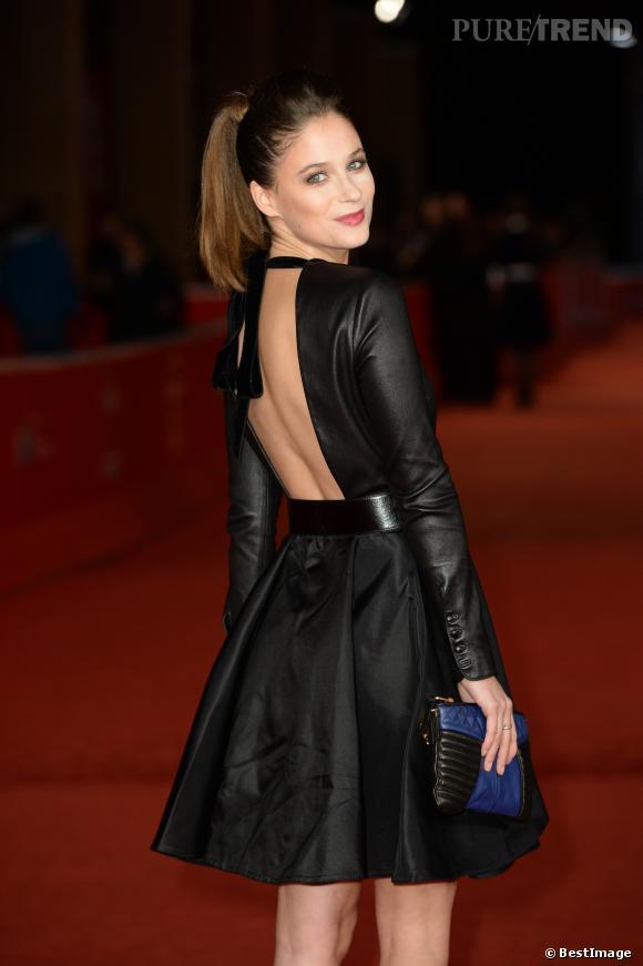 """Mélanie Bernier à la première du film """"Au bonheur des ogres"""" au 8ème festival international du film de Rome le 13 novembre 2013."""