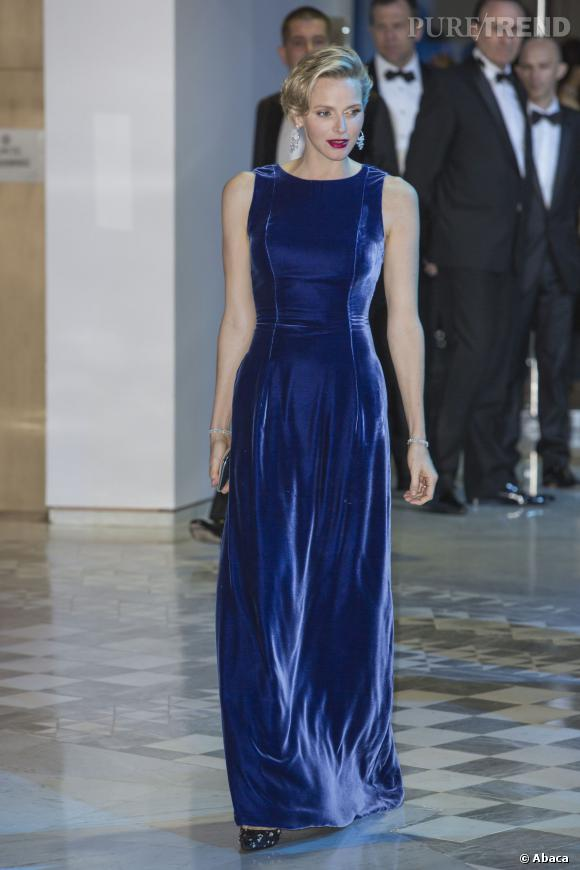 Charlène de Monaco au gala MONAA à Monaco le 15 novembre.