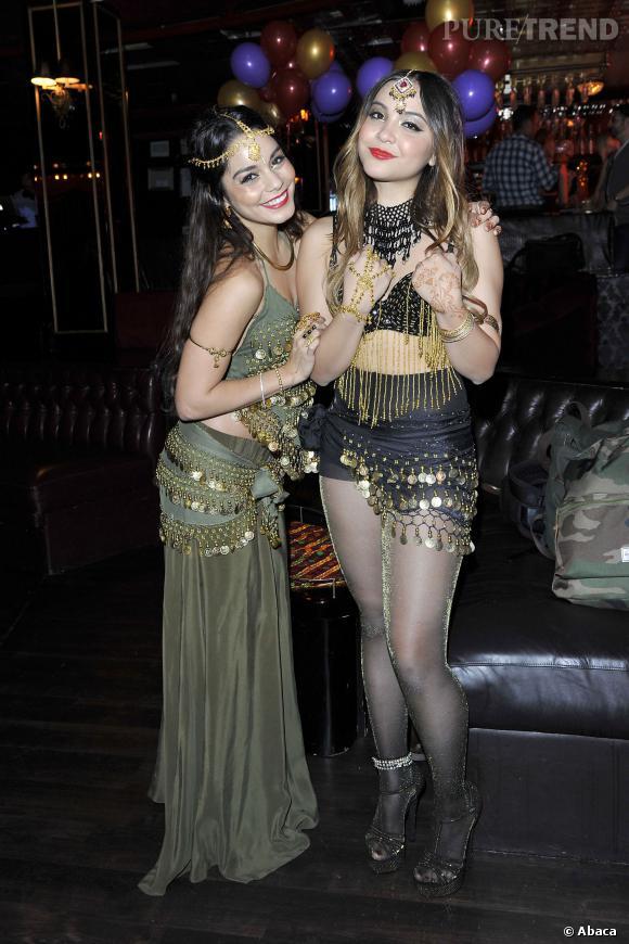 Vanessa Hudgens fête l'anniversaire de sa soeur à Los Angeles.
