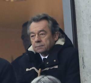 Michel Denisot lors du match de foot France-Ukraine mardi 19 novembre.